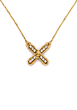 PETITE SWAROVSKI FRENCH KISS NECKLACE GOLD