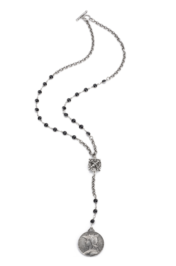 SWAROVSKI WITH CABLE CHAIN AND MINISTRY MEDALLION