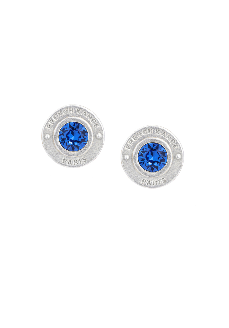 BIRTHSTONE ANNECY EARRINGS SILVER