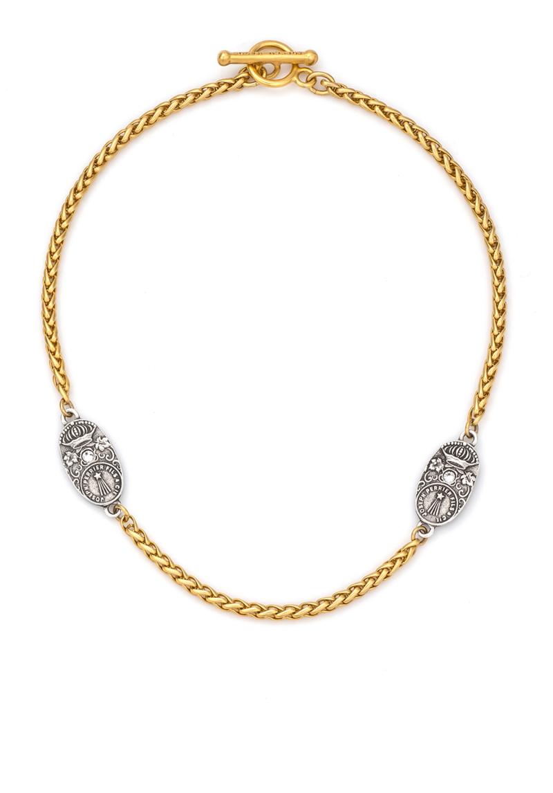 TWIN PATINA CUVEE CHEVAL CHOKER GOLD