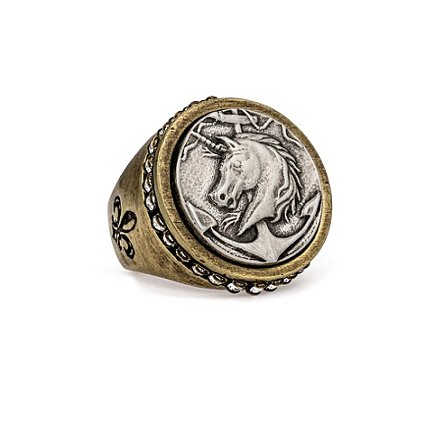 SWAROVSKI SIGNET RING WITH COLONIES MEDALLION