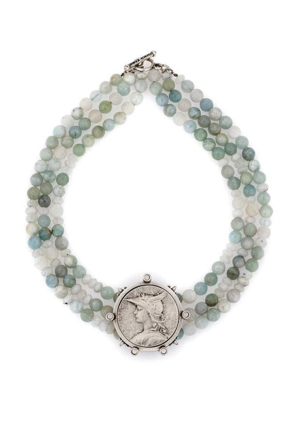 TRIPLE STRAND LA MER MIX WITH MINISTRY MEDALLION