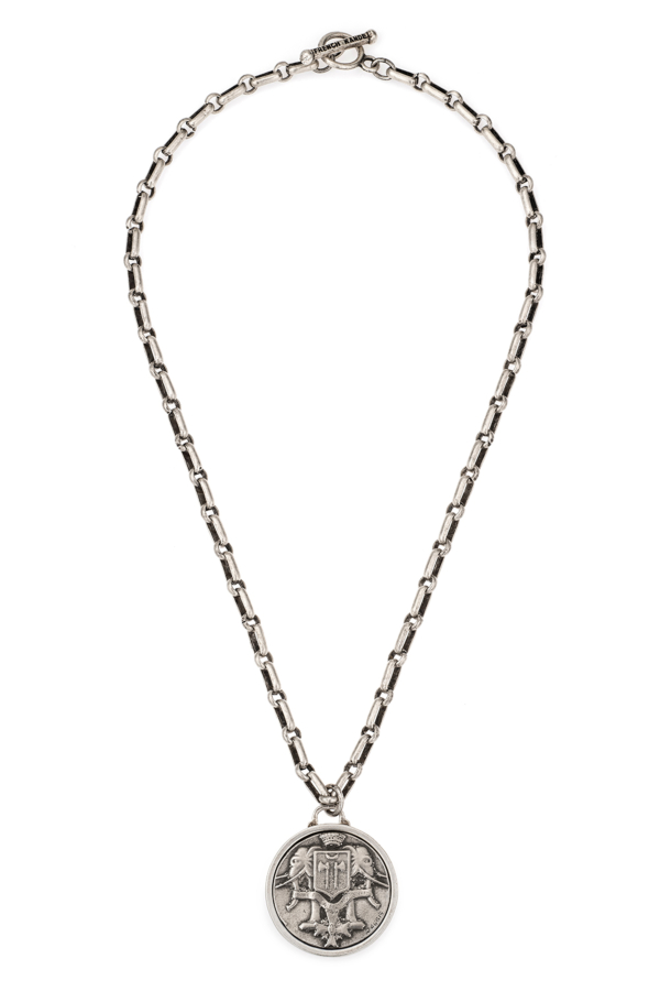 BORDEAUX CHAIN WITH CHOICE OF SILVER MEDALLION