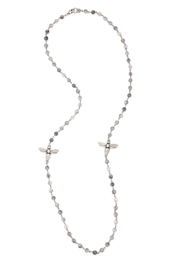 CLOUDY QUARTZ KANDE WRAPPER WITH CHOICE OF PENDANT