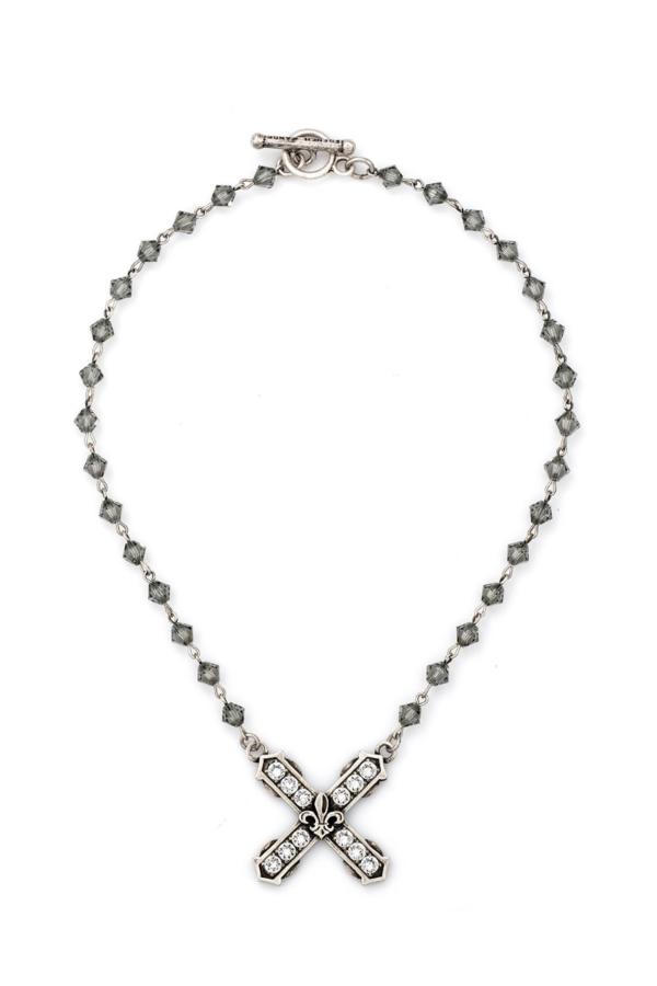 BLACK DIAMOND SWAROVSKI WITH SWAROVSKI FRENCH KISS PENDANT