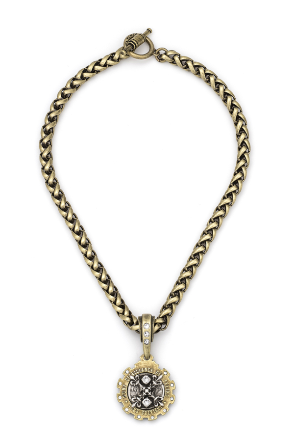 CHEVAL CHAIN WITH X MEDALLION
