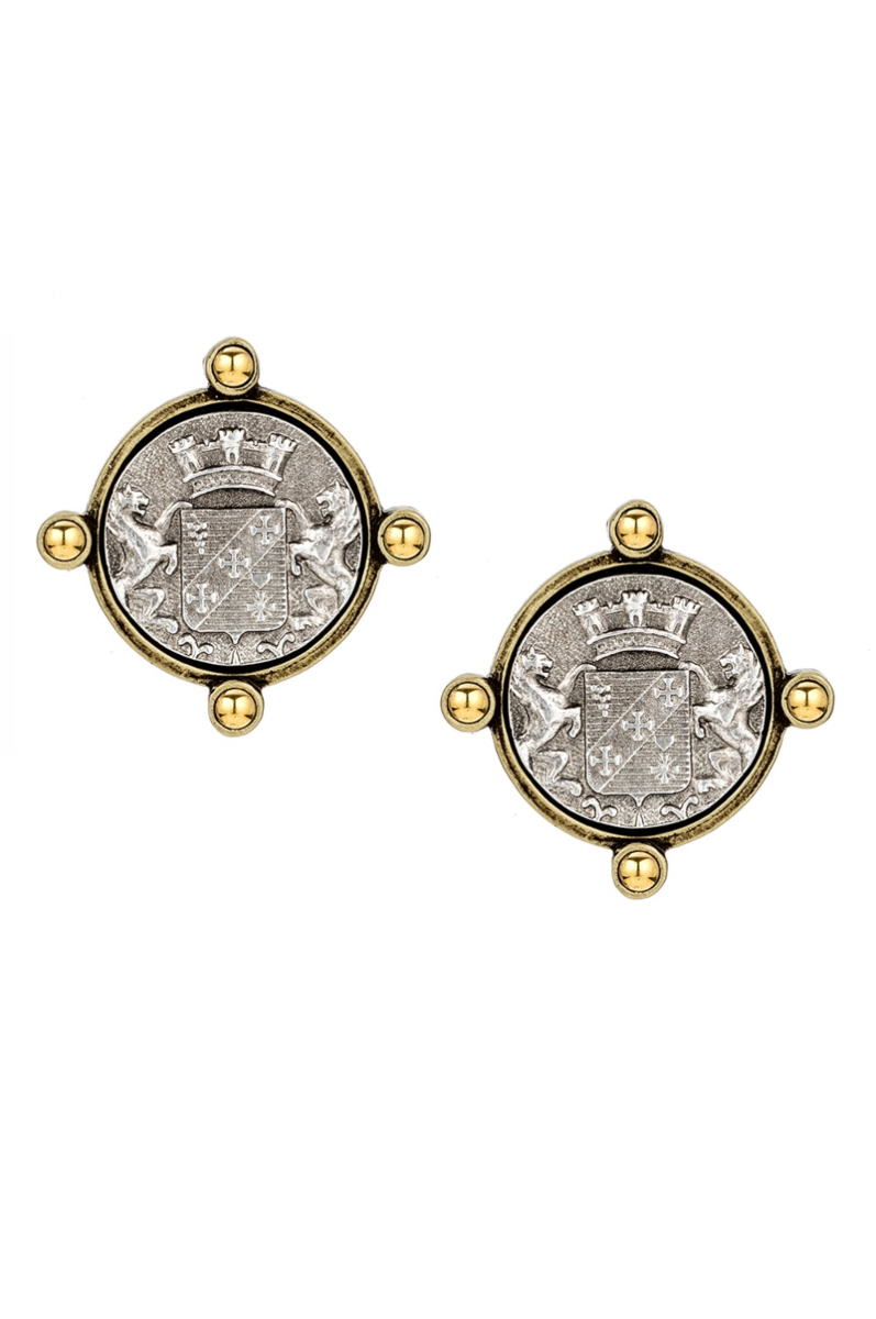 OREILLE EARRINGS WITH MAILLY MEDALLION