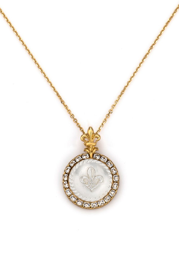 GOLD MIXED LA ROCHELLE NECKLACE WITH CHOICE OF MEDALLION