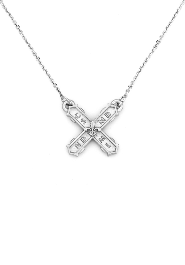 PETITE FRENCH KISS NECKLACE SILVER
