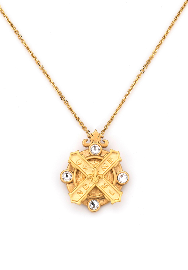 ARLES NECKLACE WITH KISS STACK GOLD