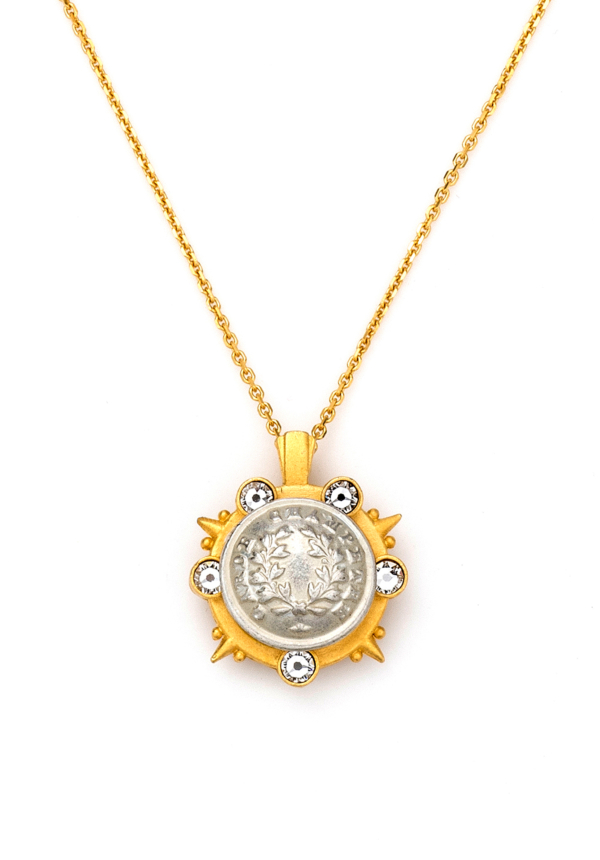 GOLD MIXED MARMONDE NECKLACE WITH CHOICE OF MEDALLION