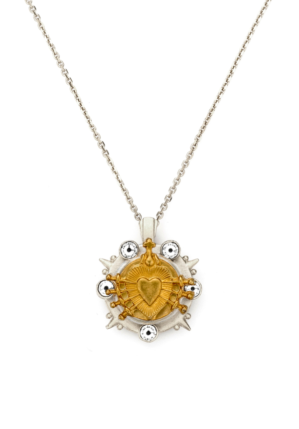 SILVER MIXED MARMONDE NECKLACE WITH CHOICE OF MEDALLION