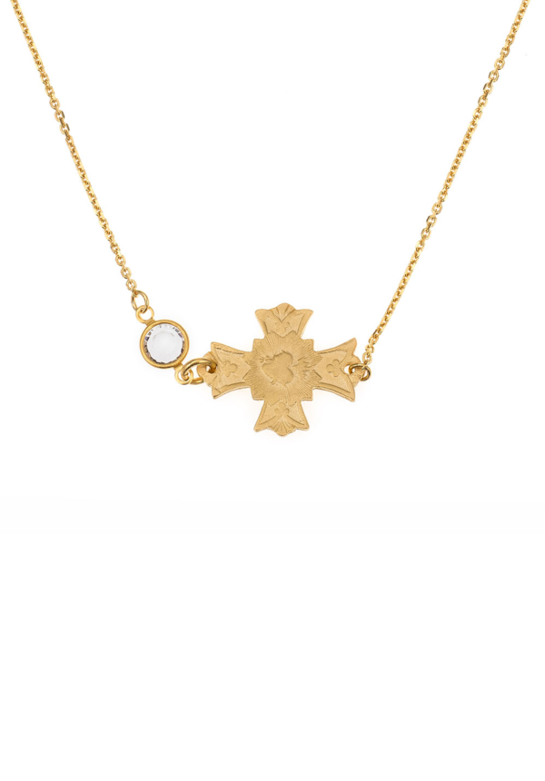IMMACULE NECKLACE WITH SWAROVSKI GOLD