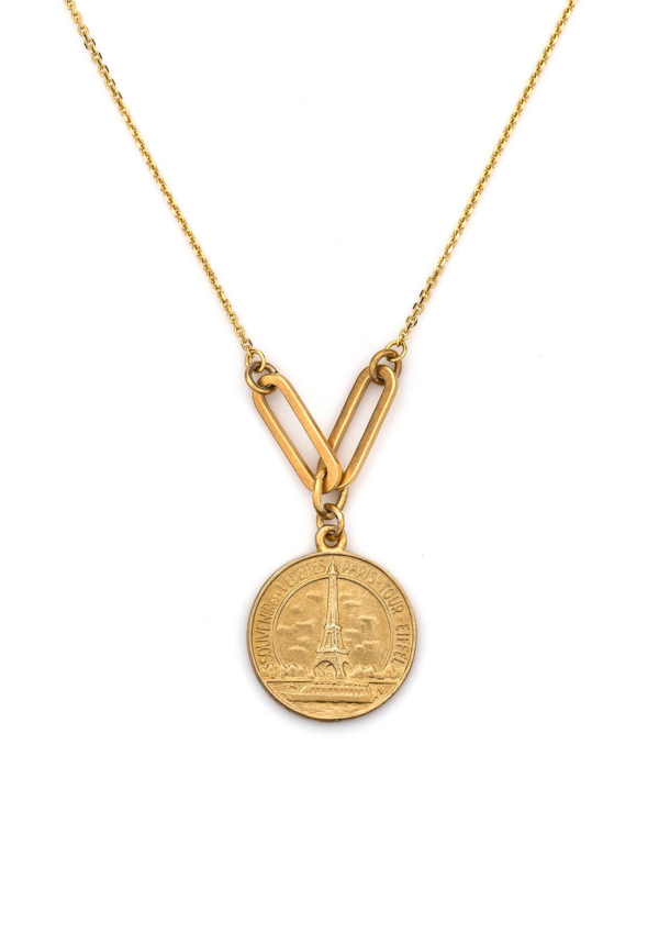 EIFFEL NECKLACE WITH VERSAILLES LOOPS GOLD