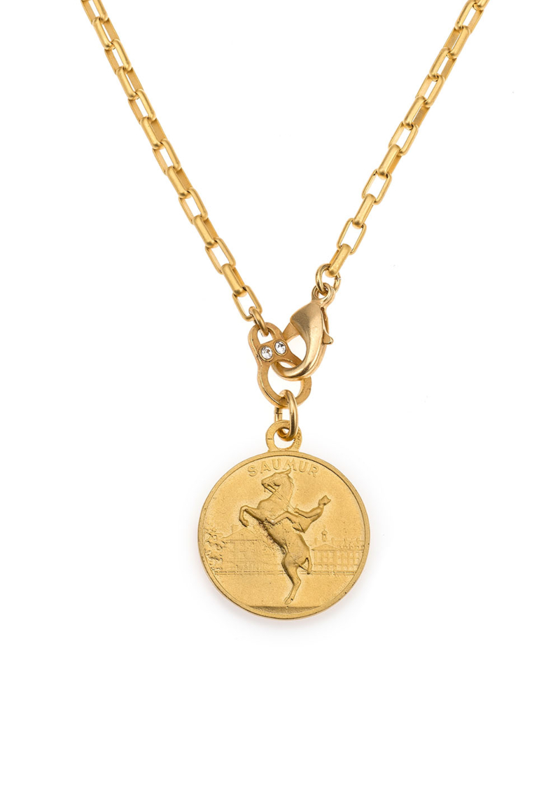 LOIRE NECKLACE WITH CHOICE OF MEDALLION GOLD