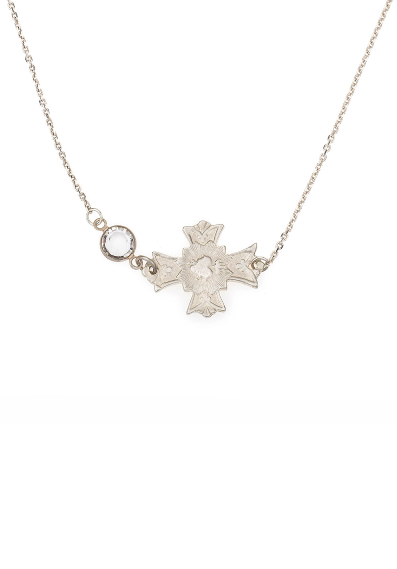 IMMACULE NECKLACE WITH SWAROVSKI SILVER