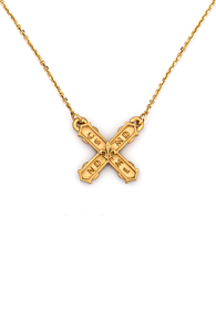 PETITE FRENCH KISS NECKLACE GOLD