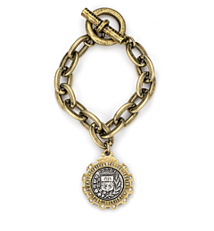 BRASS LOURDES CHAIN WITH GUSTAVE MEDALLION