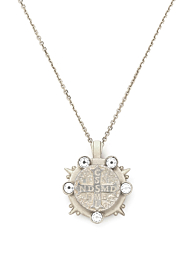 SILVER MARMONDE NECKLACE  WITH CHOICE OF MEDALLION