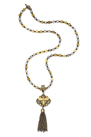 GOLDEN MIX WITH MIEL PENDANT AND TASSEL